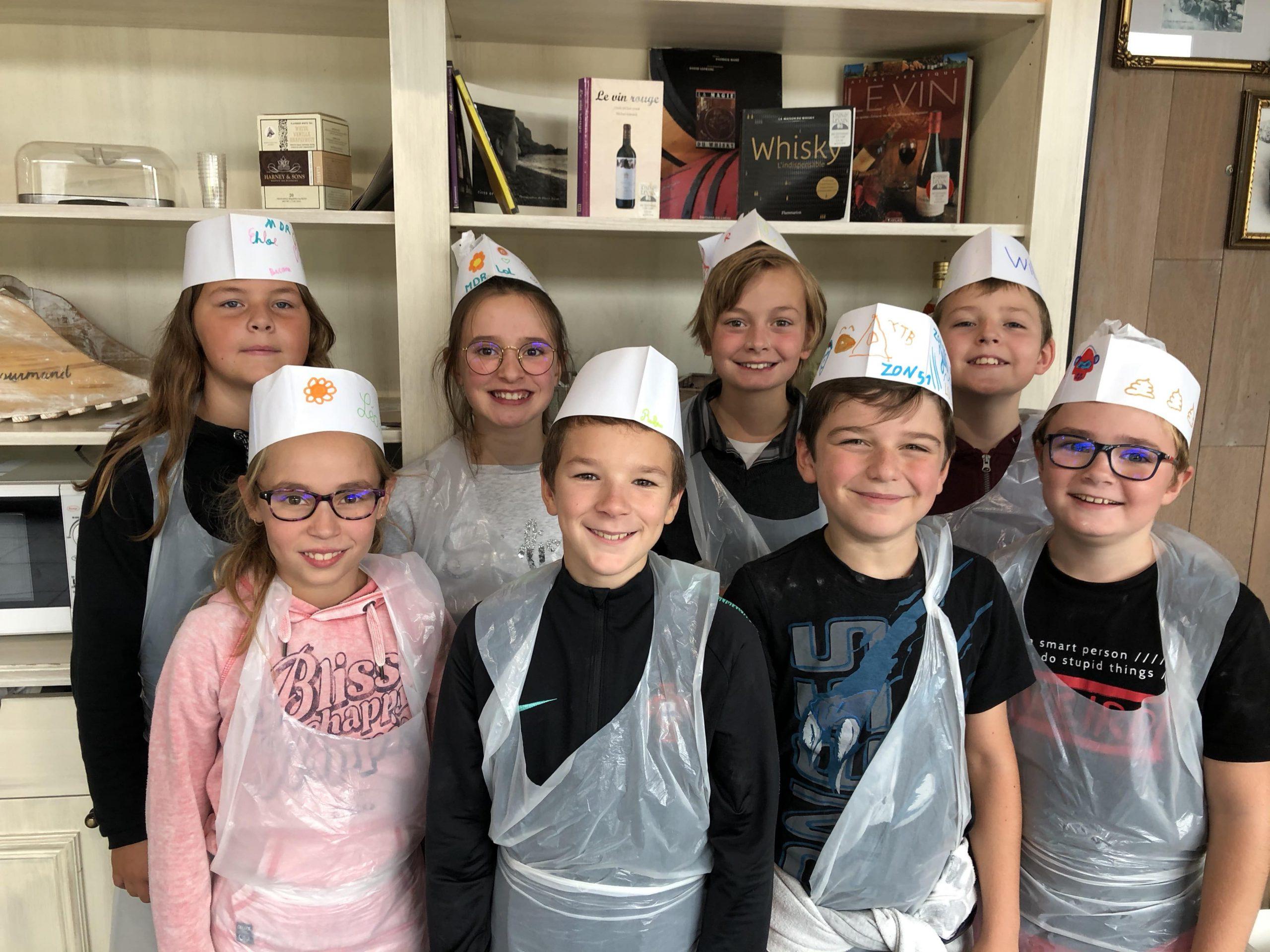 Les élèves de l'école Sainte Germaine apprennent faire la cuisine
